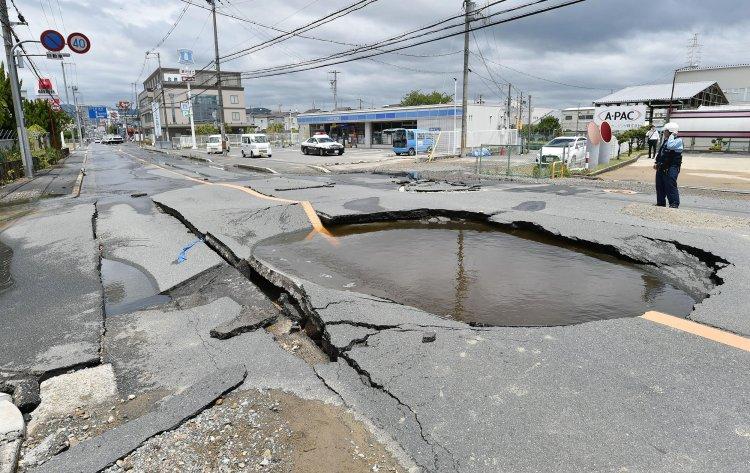 A magnitude 7.1 earthquake near Fukushima in Japan