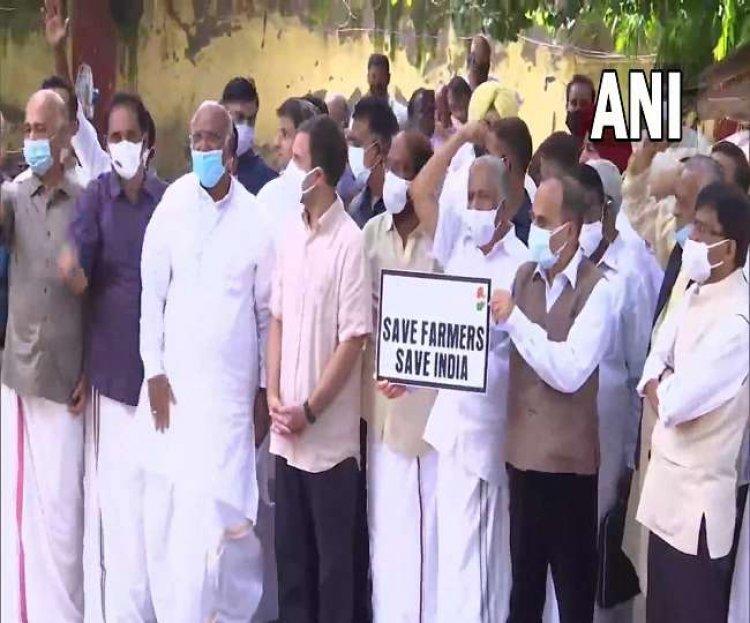 Rahul Gandhi joined the farmers' movement at Jantar Mantar, said- government should repeal agricultural laws